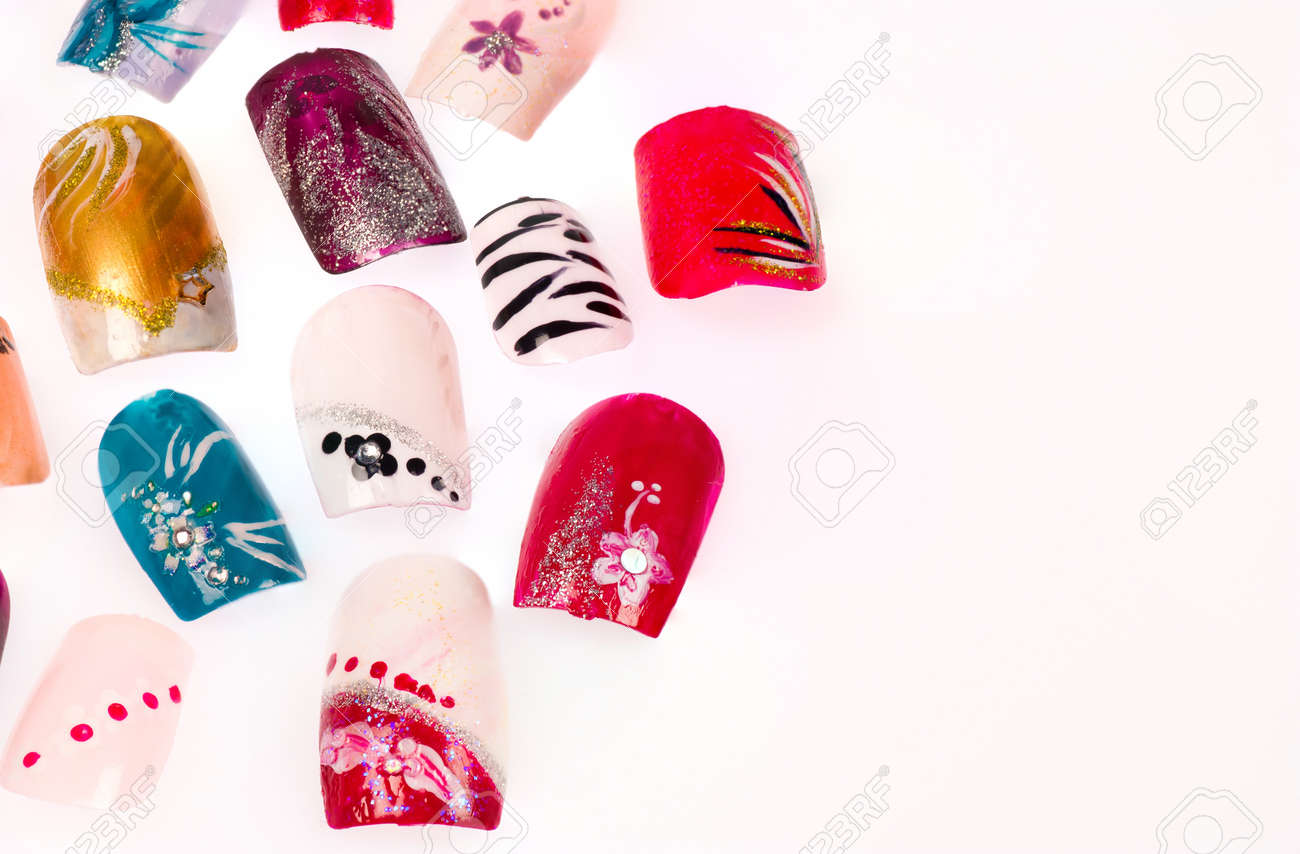 Artificial finger nails  artfully decorated Stock Photo - 12367789