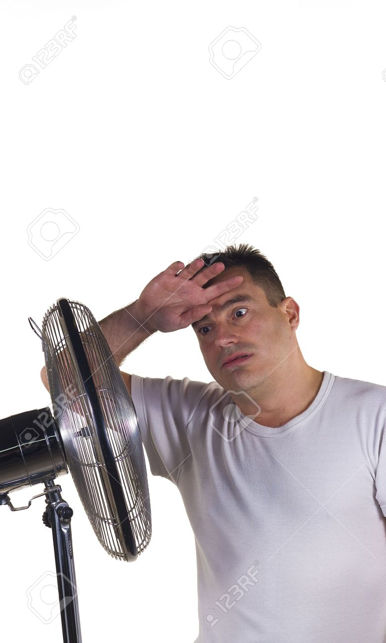 A guy suffering a terribly hot summer day Stock Photo - 12625238