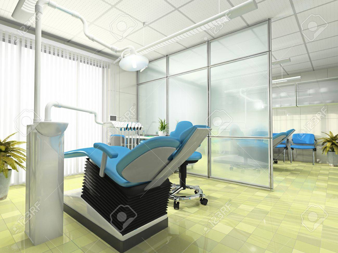 Interior of the modern stomatologic cabinet Stock Photo - 2905503