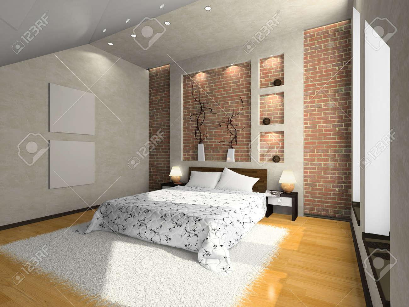 Дизайн стены под кирпич