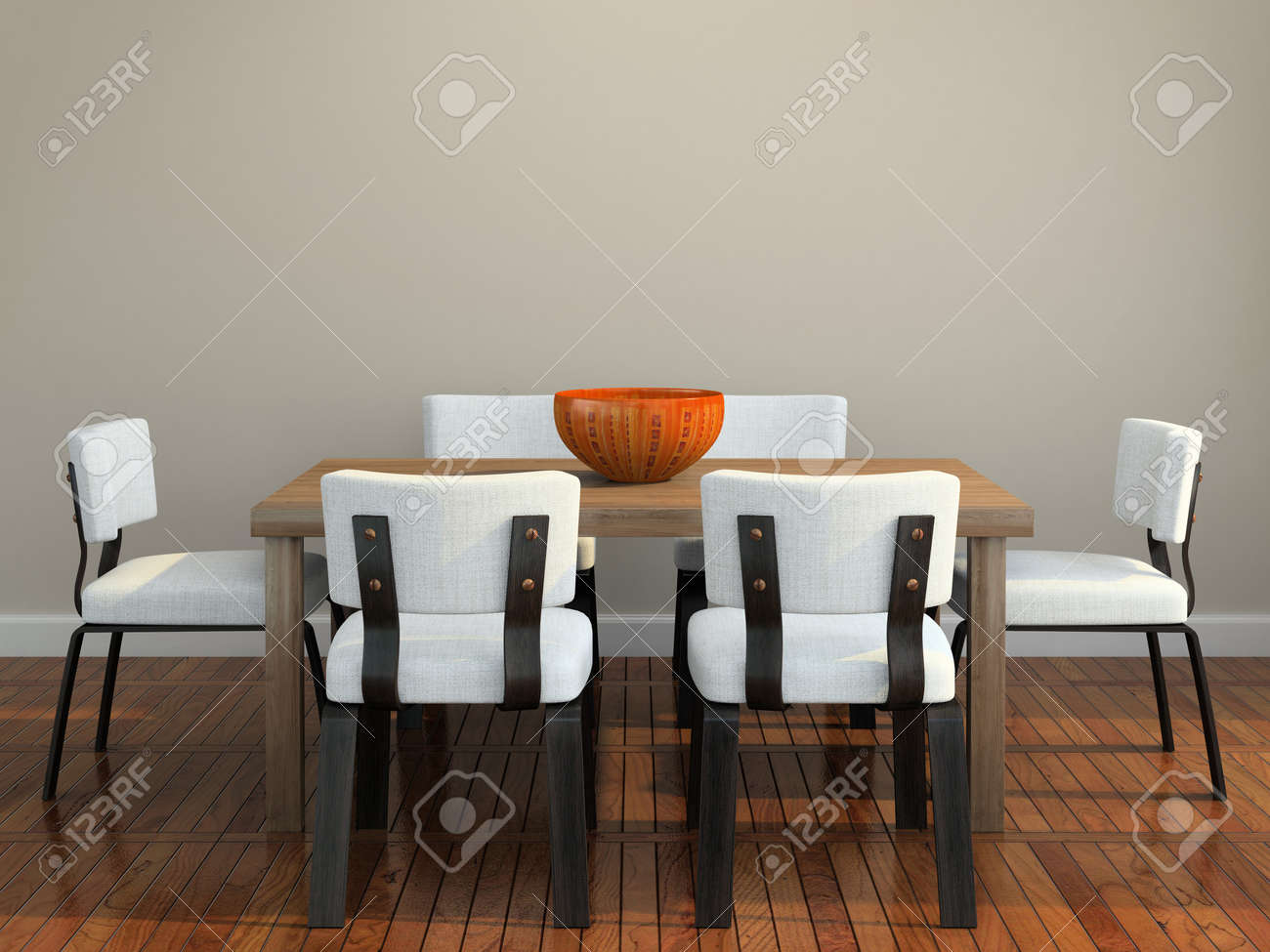 Part of the modern interior 3D rendering Stock Photo - 7341000