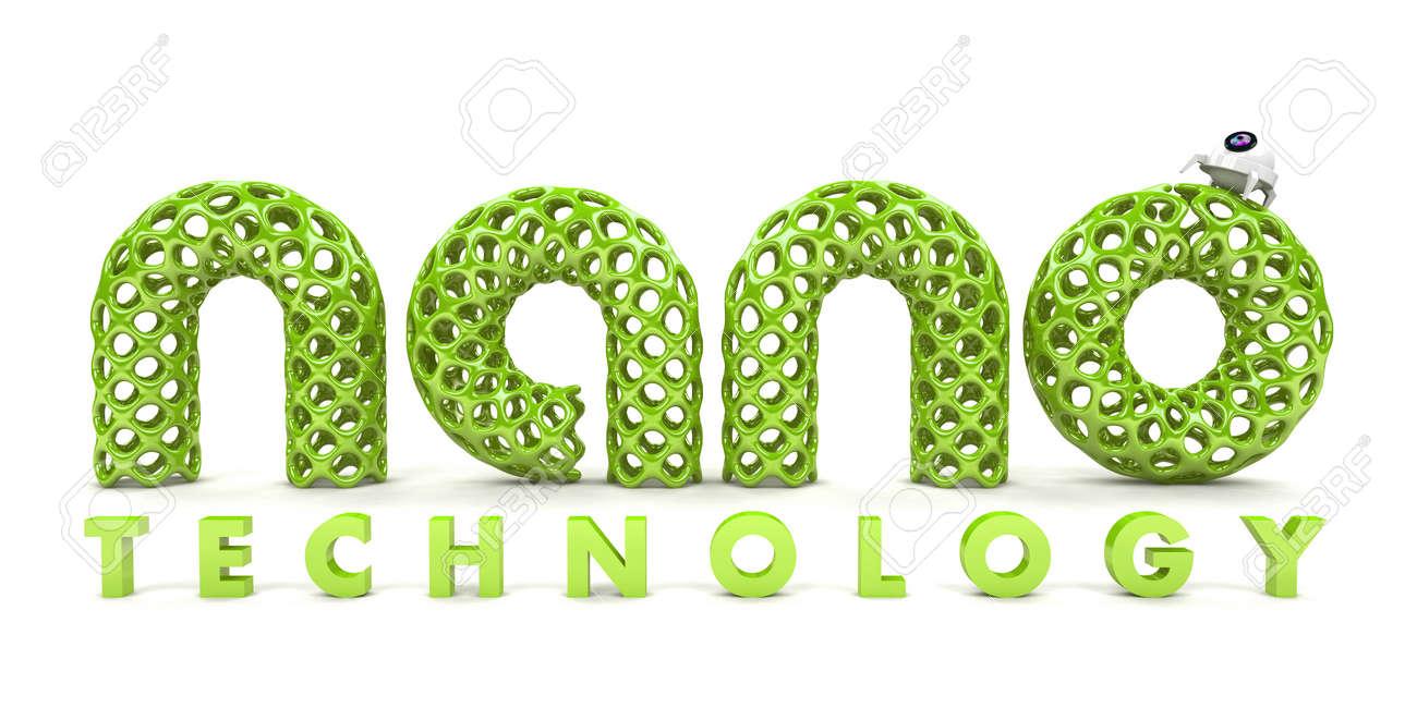 Inscription nanotechnology isolated on white background 3D Stock Photo - 13720167