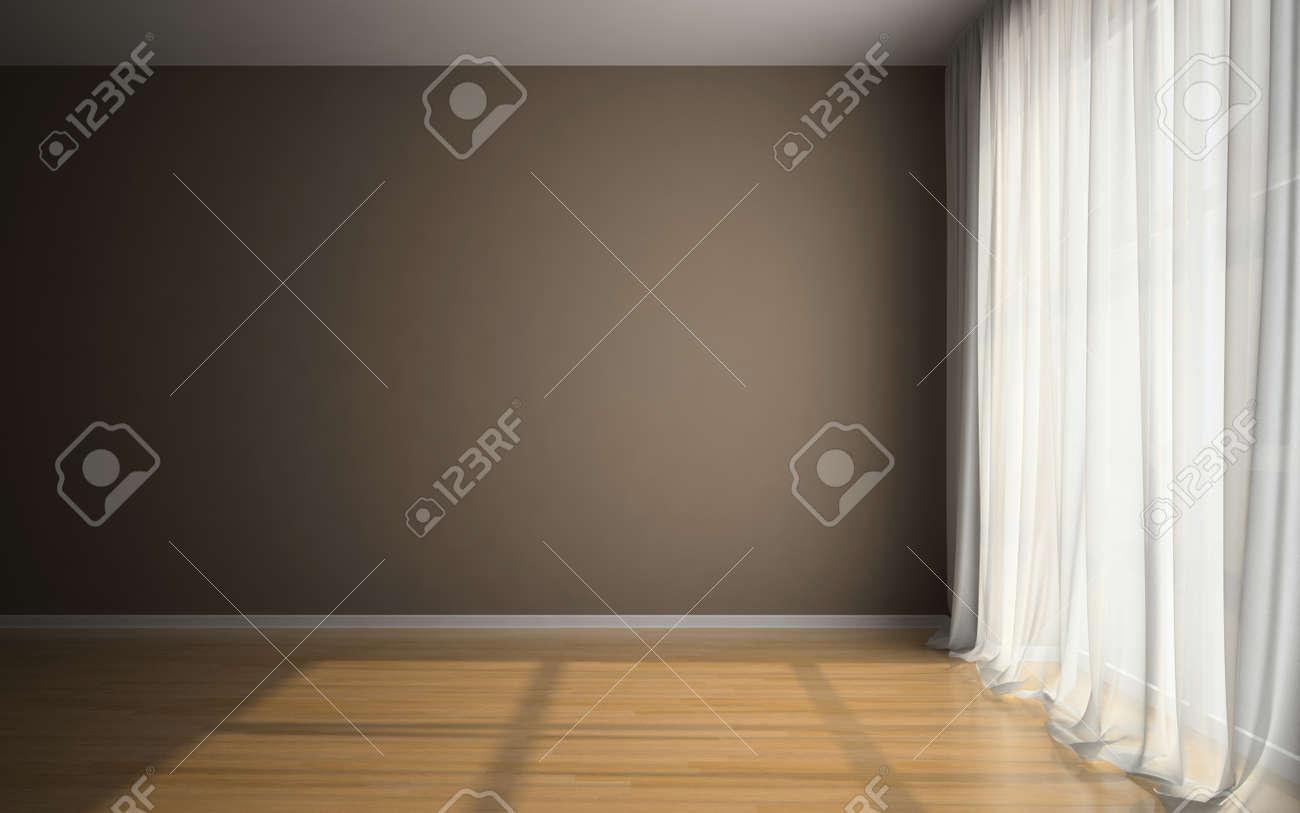 Empty room in waiting for tenants illustration Stock Illustration - 15698467