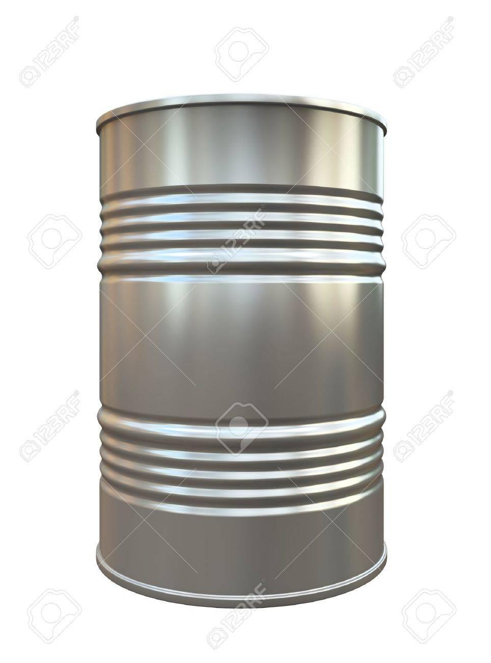 Metal barrel isolated on white background illustration Stock Illustration - 16667846
