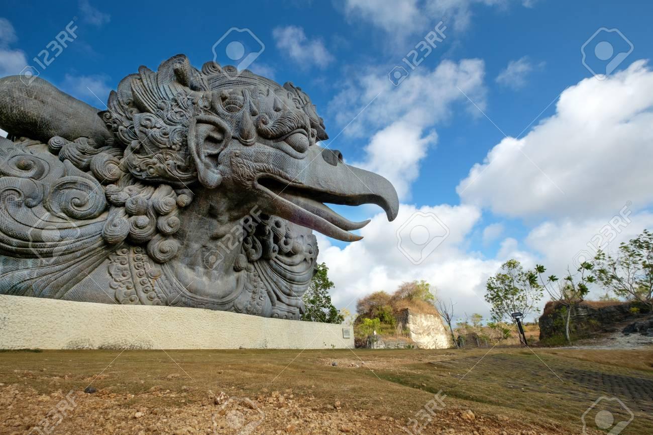 Mythical Being Statue Of Garuda In Garuda Wisnu Kencana Cultural