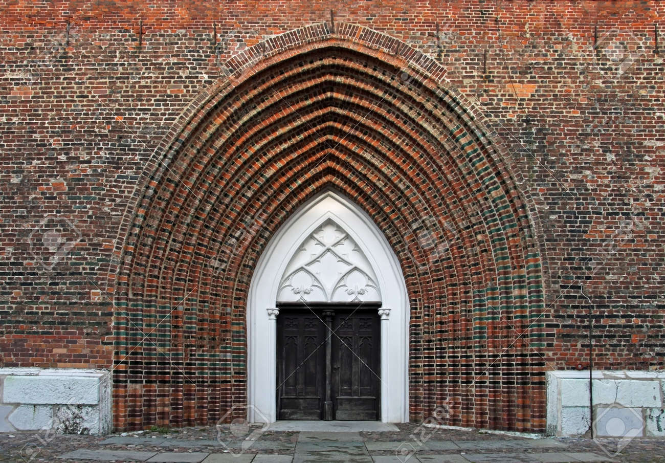 Entrance of the Cathedral St. Nikolai in Greifswald (Mecklenburg-Vorpommern, Germany) Stock Photo - 12550505