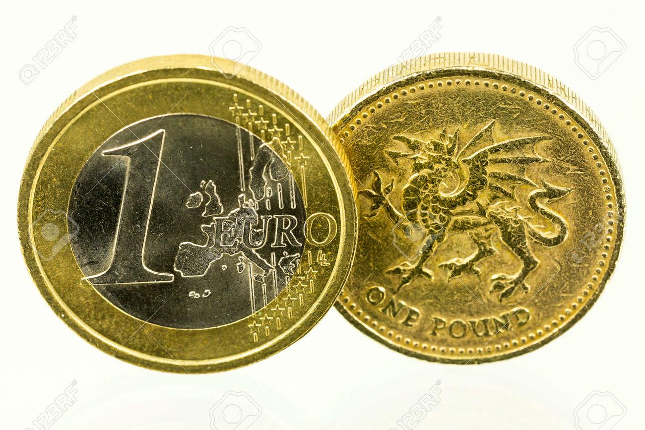 Jahrgang Suchen Britischen Pfund Münzen Währung Des Vereinigten