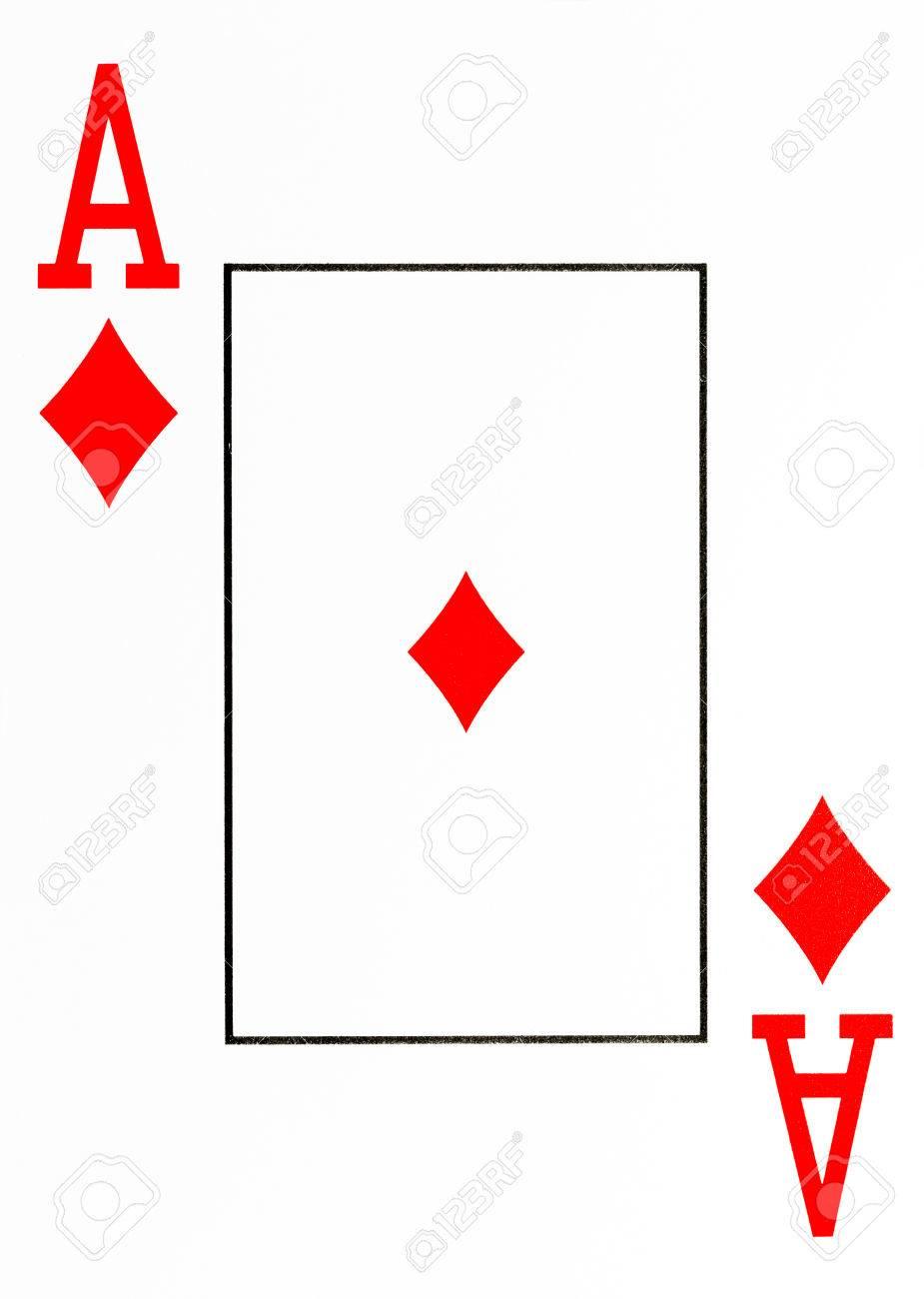 karo karte Große Karte Spielkarte Karo Ass Lizenzfreie Fotos, Bilder Und