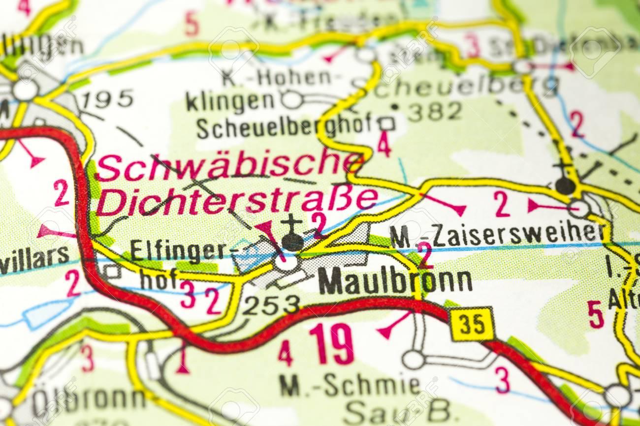Kloster Maulbronn Auf Der Karte Maulbronn Baden Wurttemberg
