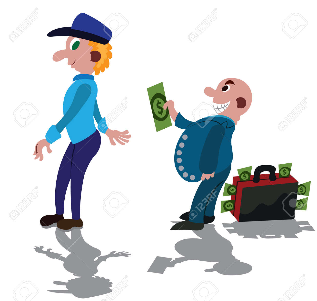 Bribery in full swing, A rich man bribing a corrupt Police Officer - 136599879