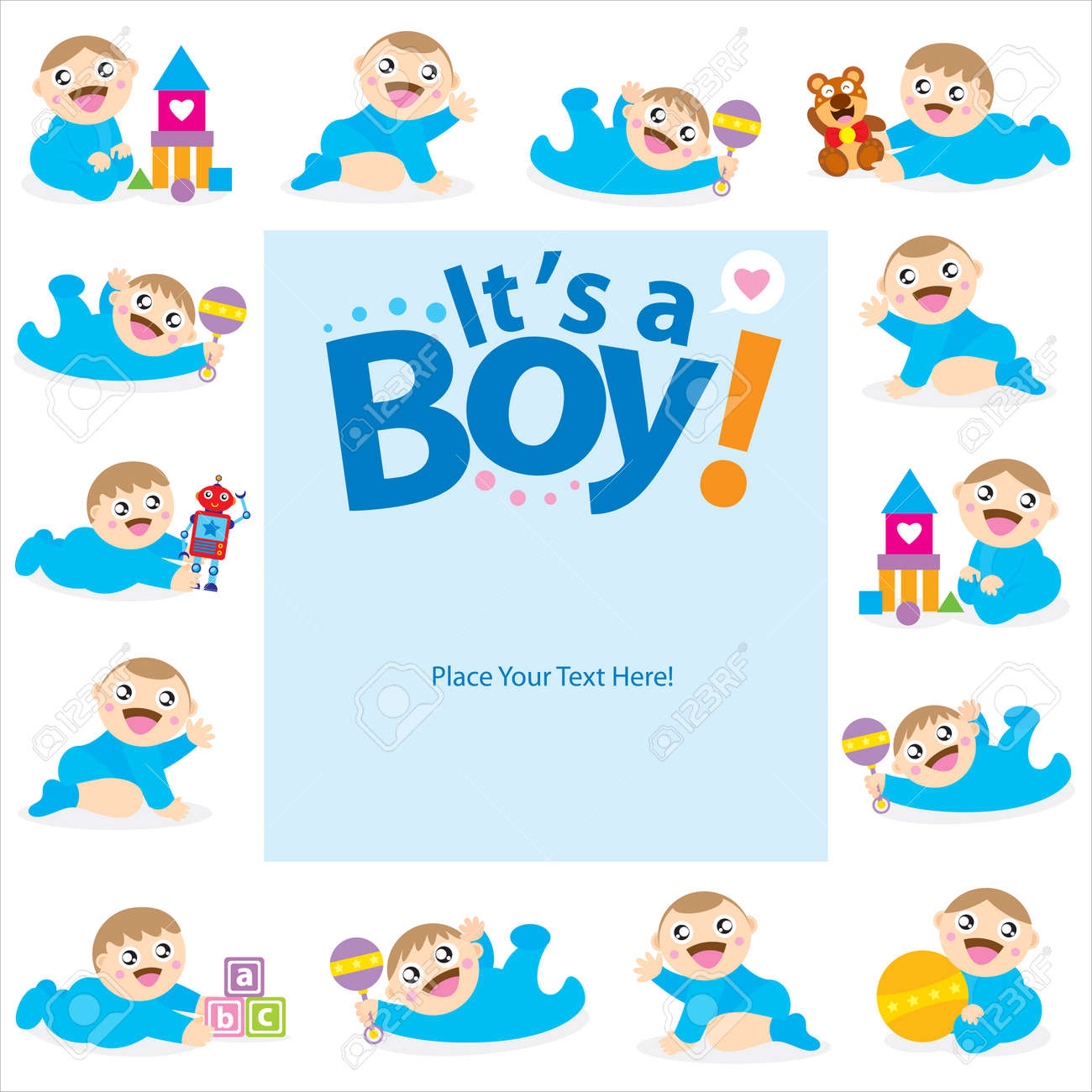 Baby boy greeting card royalty free cliparts vectors and stock baby boy greeting card stock vector 30443772 m4hsunfo