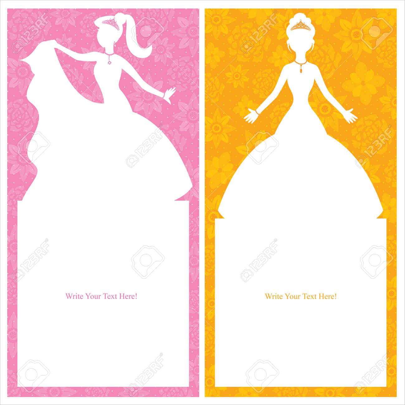 princess card design - 30443779