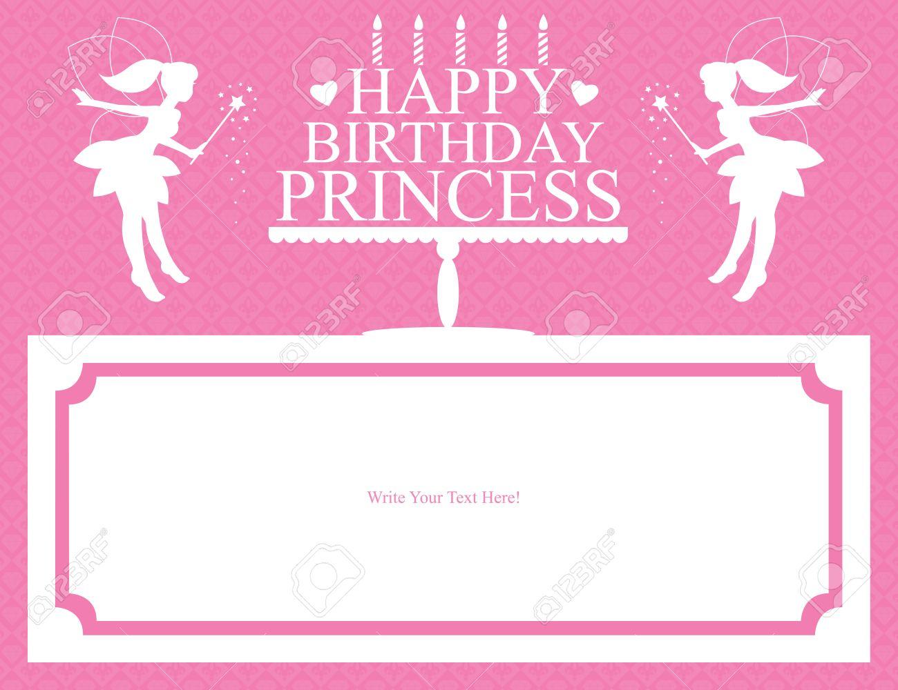 Princess Birthday Card Royalty Free Cliparts Vectors And Stock