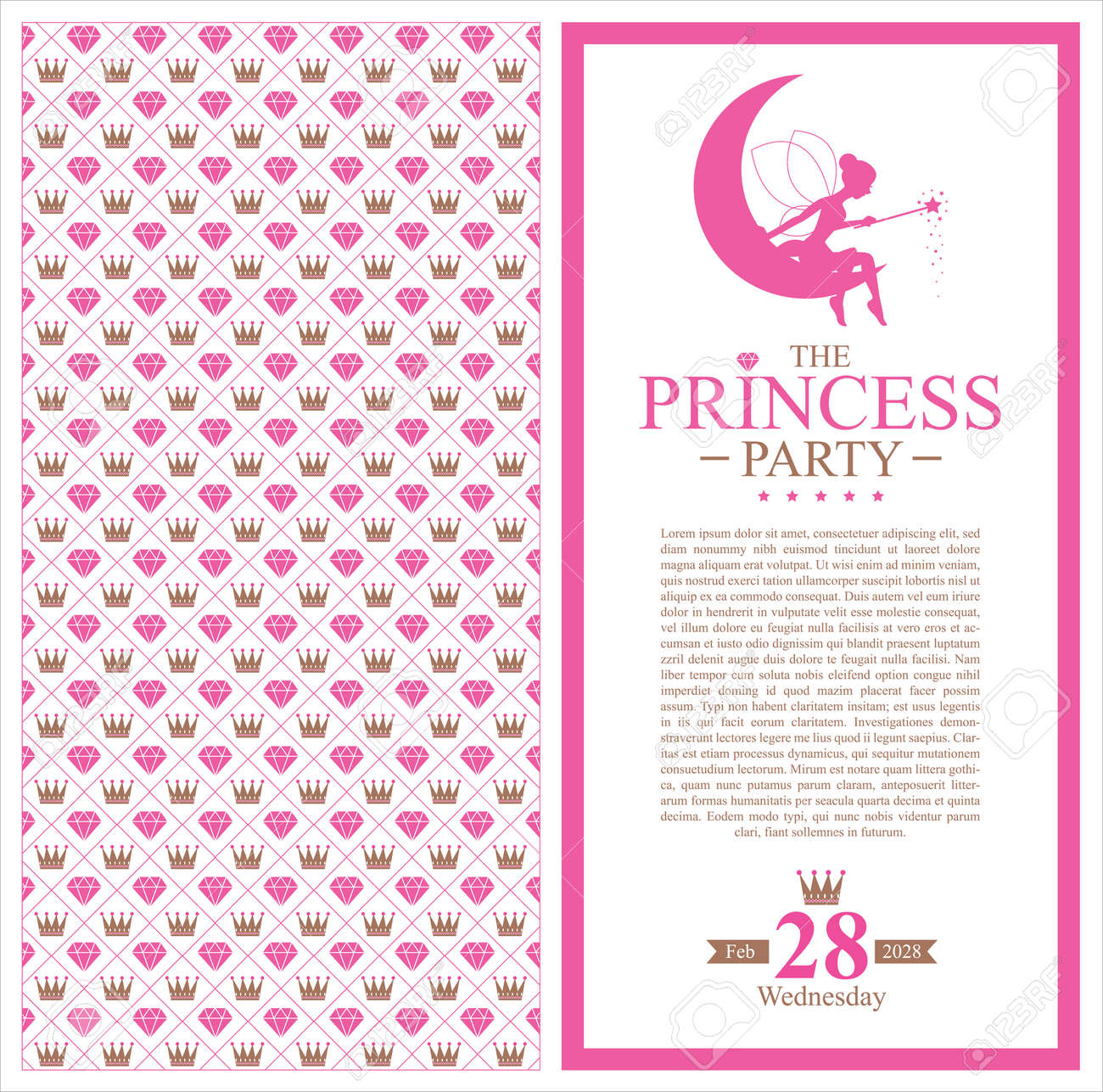 Birthday princess invitation royalty free cliparts vectors and birthday princess invitation stock vector 30926049 stopboris Choice Image