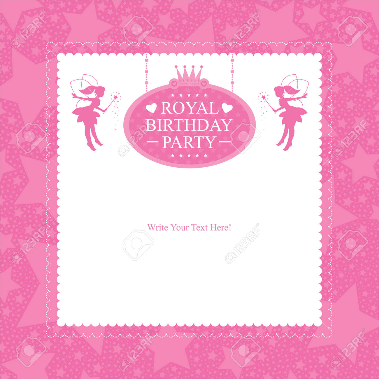 Excellent Princess Birthday Invitation Card Design Royalty Free Cliparts Funny Birthday Cards Online Elaedamsfinfo