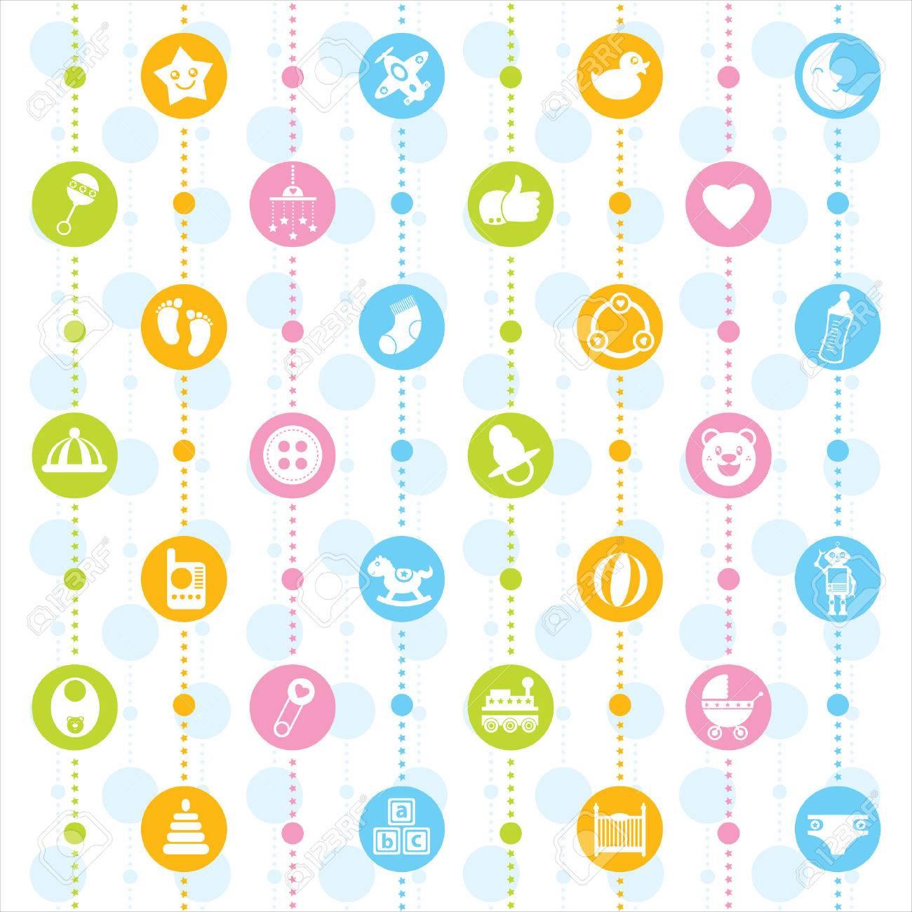 baby icon seamless - 31709409
