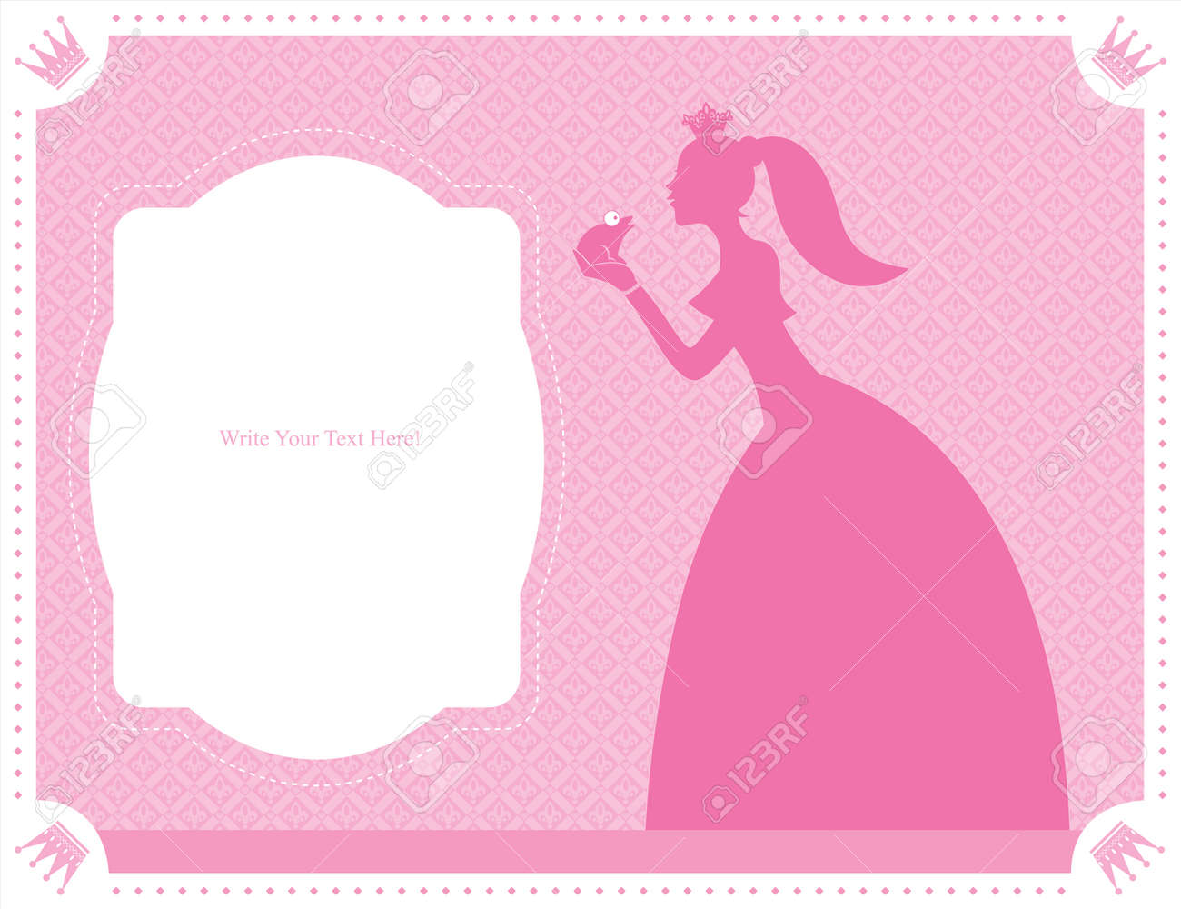 princess and frog card template royalty cliparts vectors vector princess and frog card template