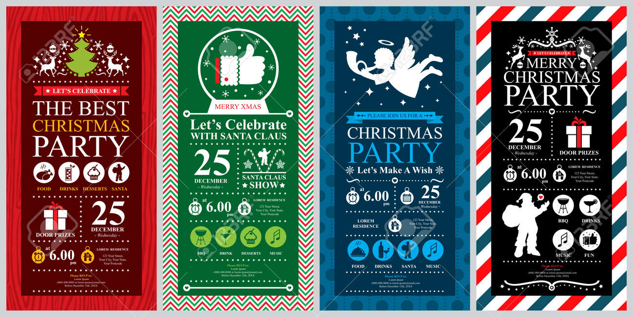 Christmas Party Invitation Card sets - 36907918