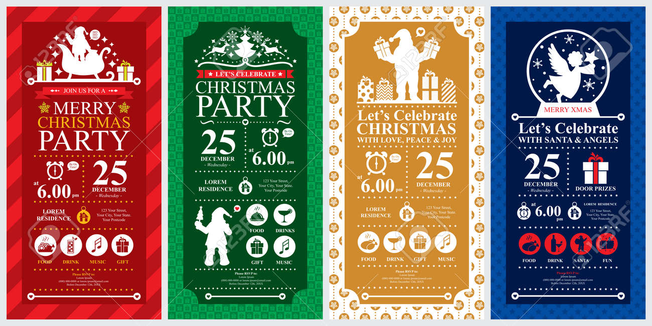Christmas Party Invitation Card sets - 37146265