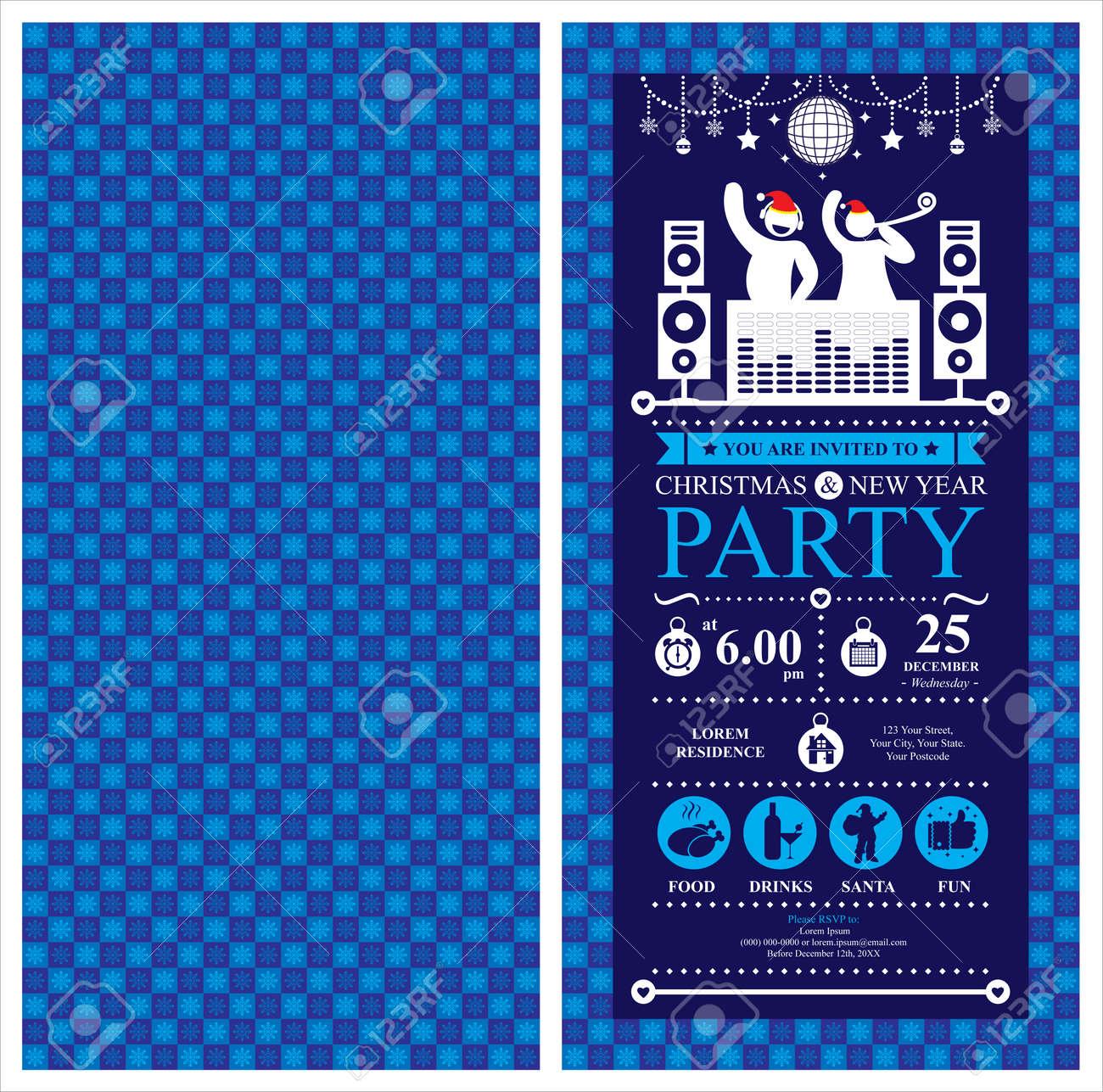Christmas Party Invitation Card - 39181448