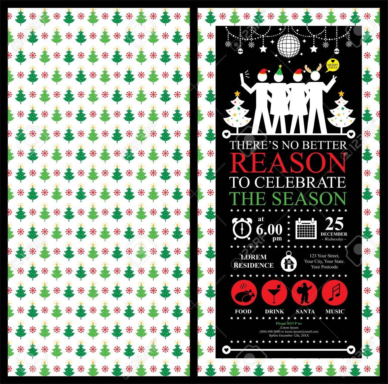 Christmas Party Invitation Card - 39093947