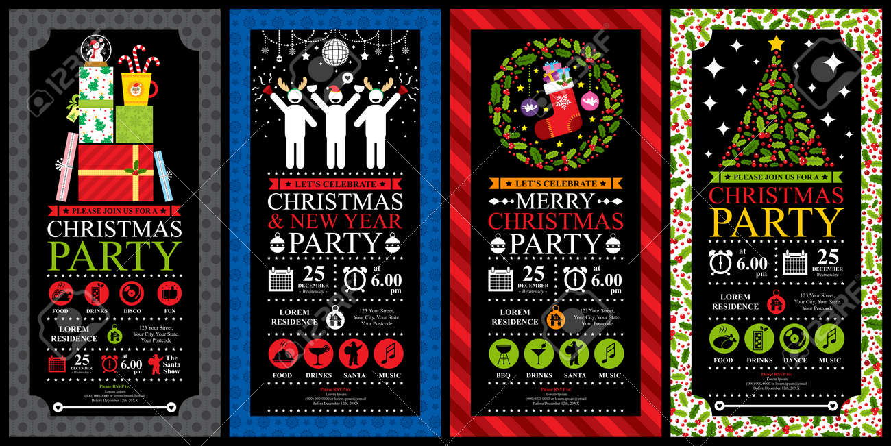 Christmas Party Invitation Card Sets - 39442951