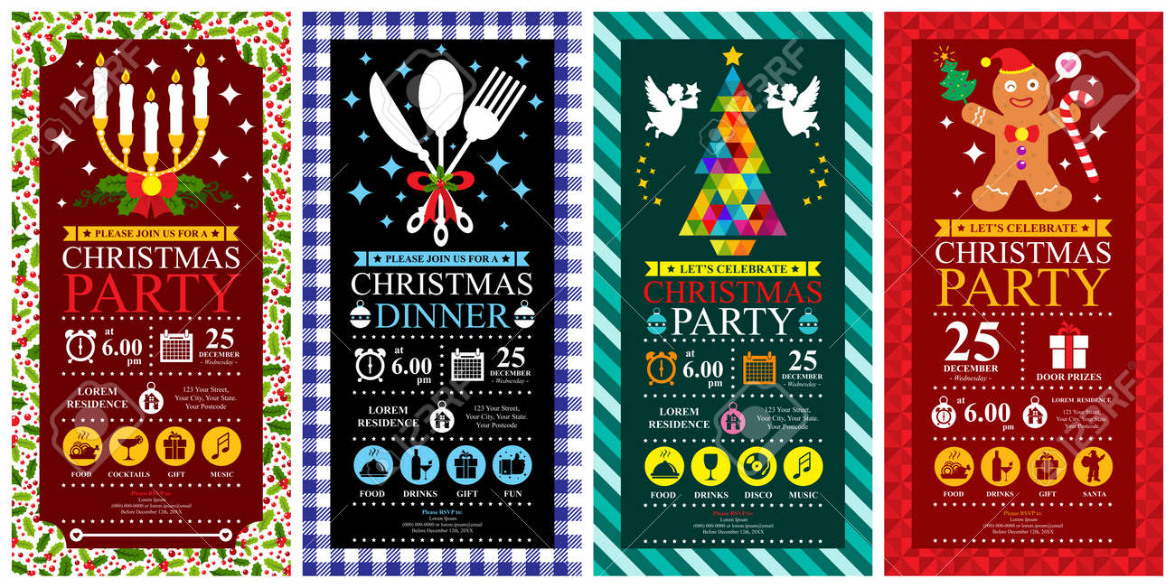 Christmas party invitation card sets - 39584854