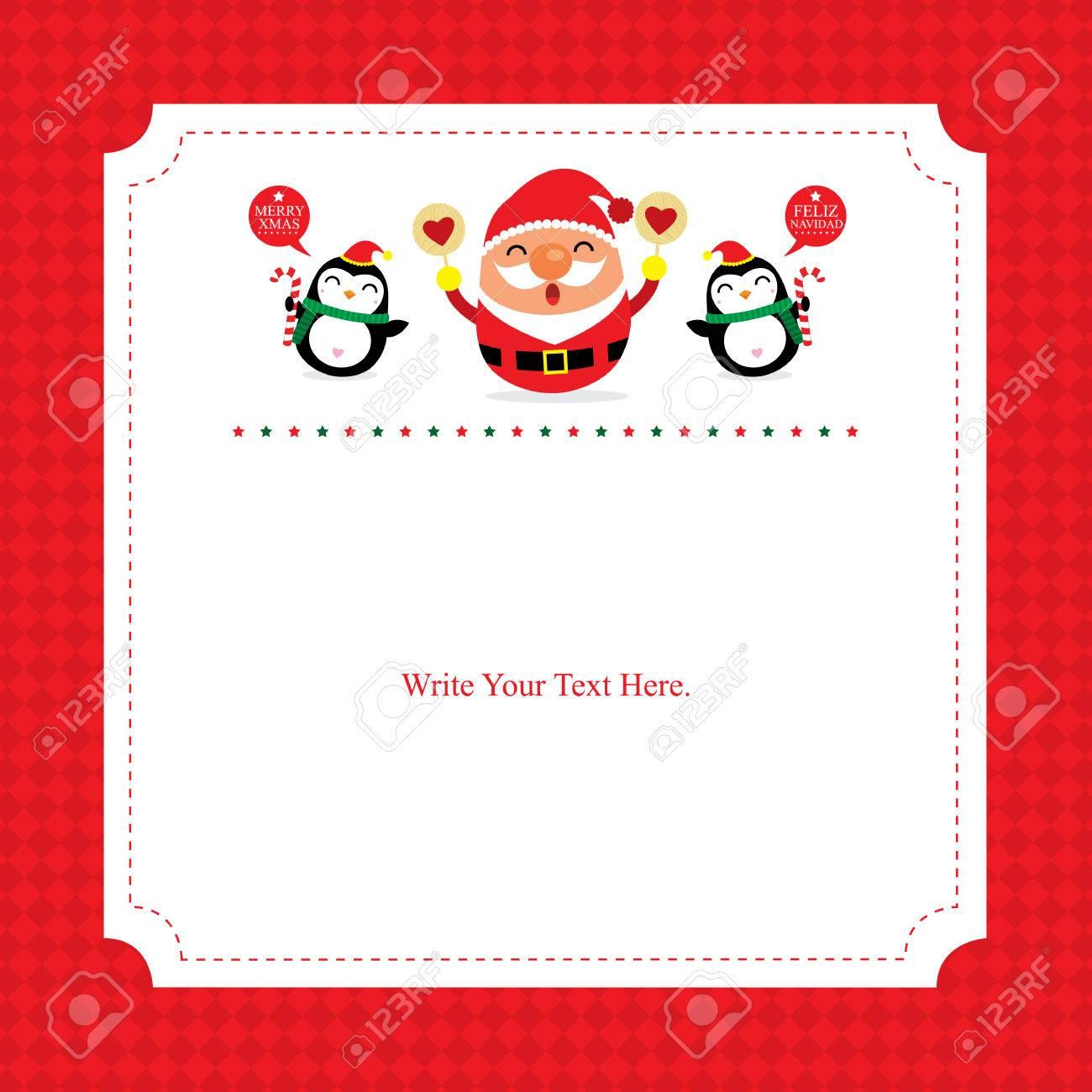 Christmas card template Santa Claus - 39693570