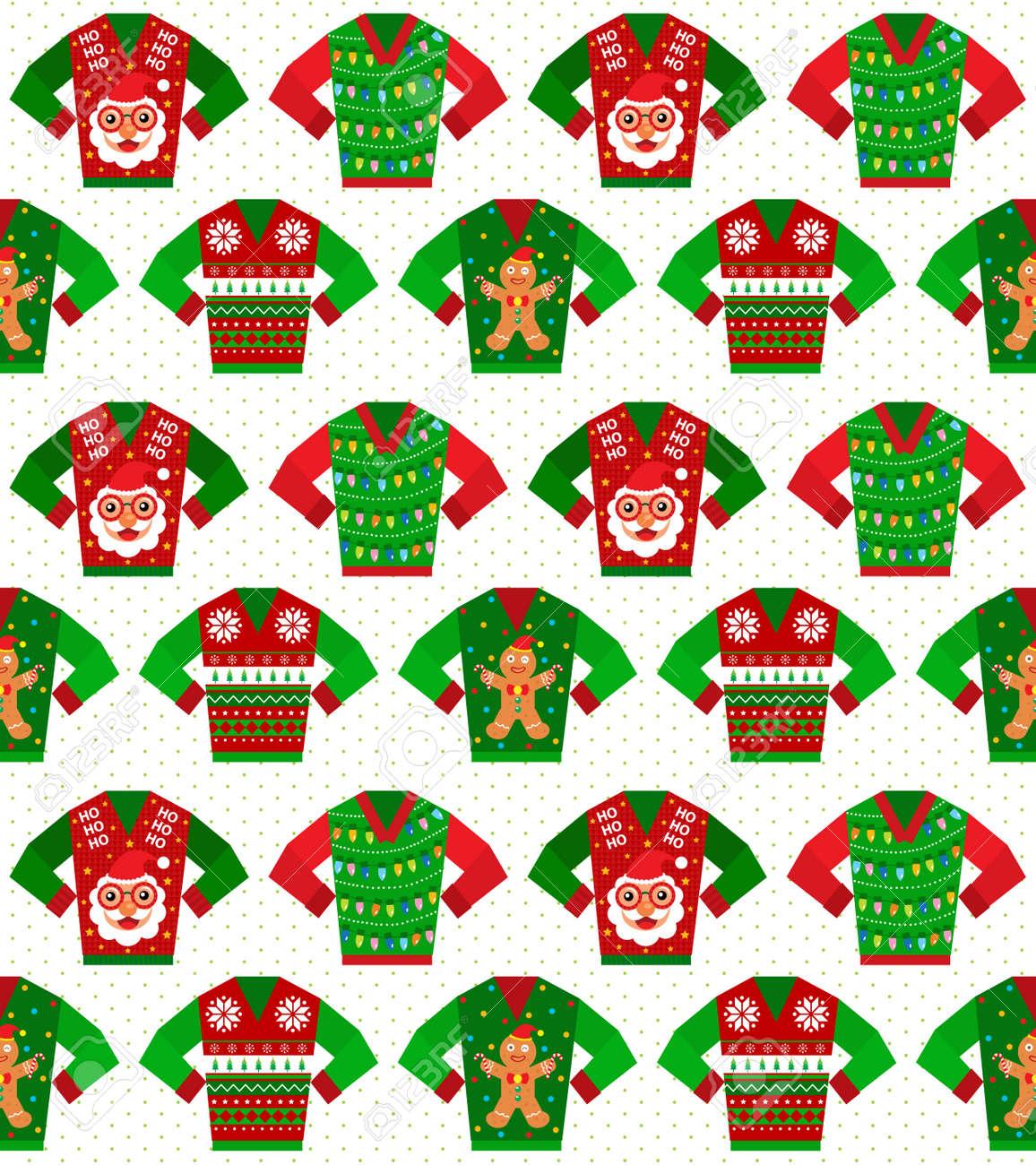 Christmas sweater seamless - 47550308