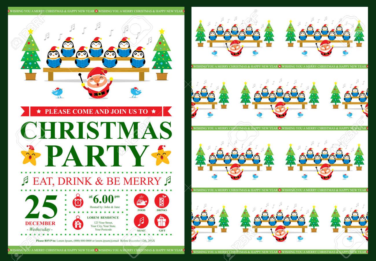 Fiesta De Navidad Tarjeta De Invitación