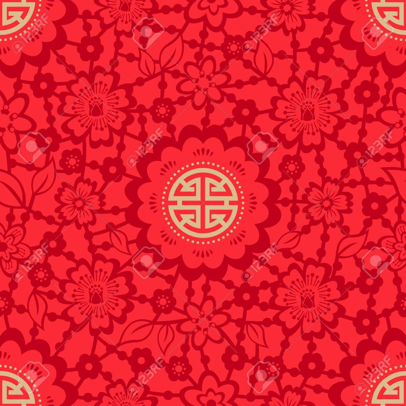 Chinese New Year Seamless - 64037883