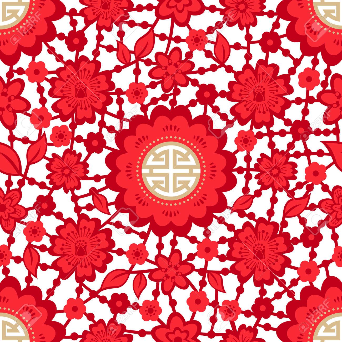 Chinese New Year Seamless - 63977475