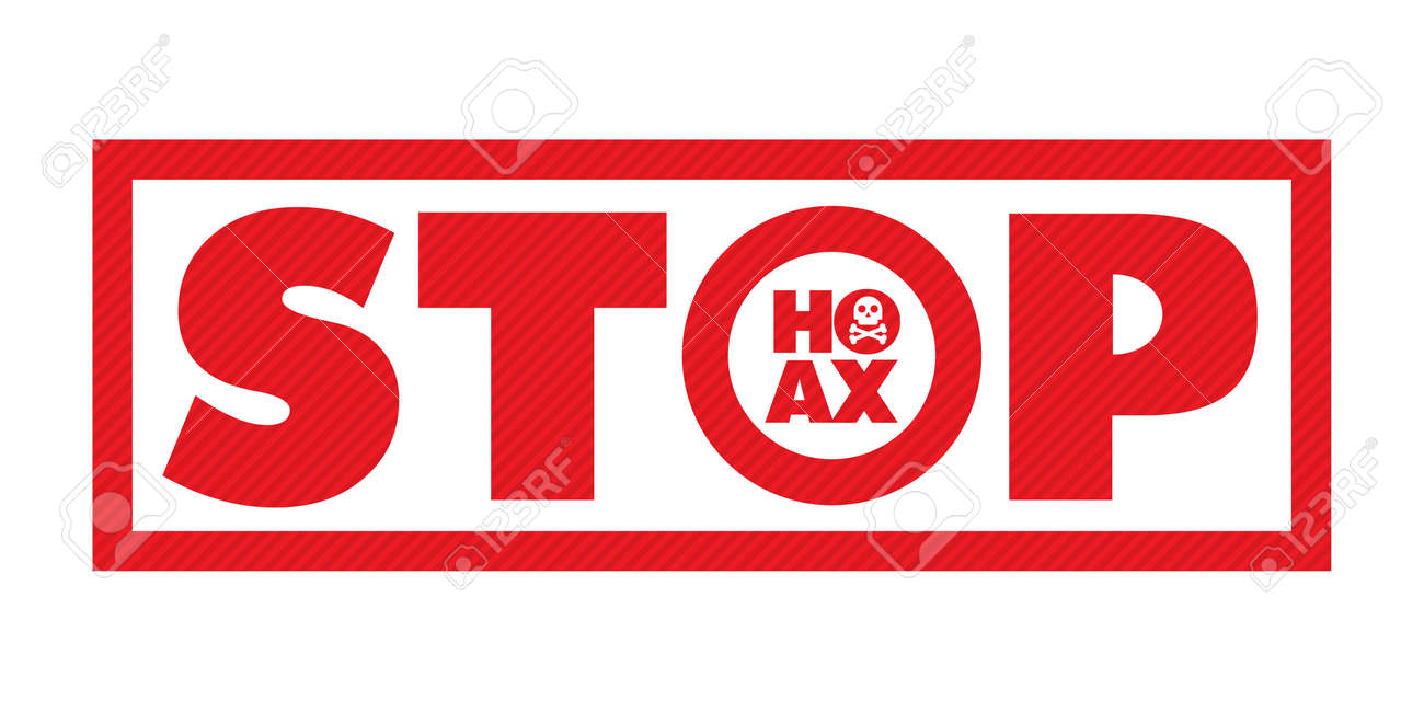 stop hoax writing on white background royalty free cliparts vectors