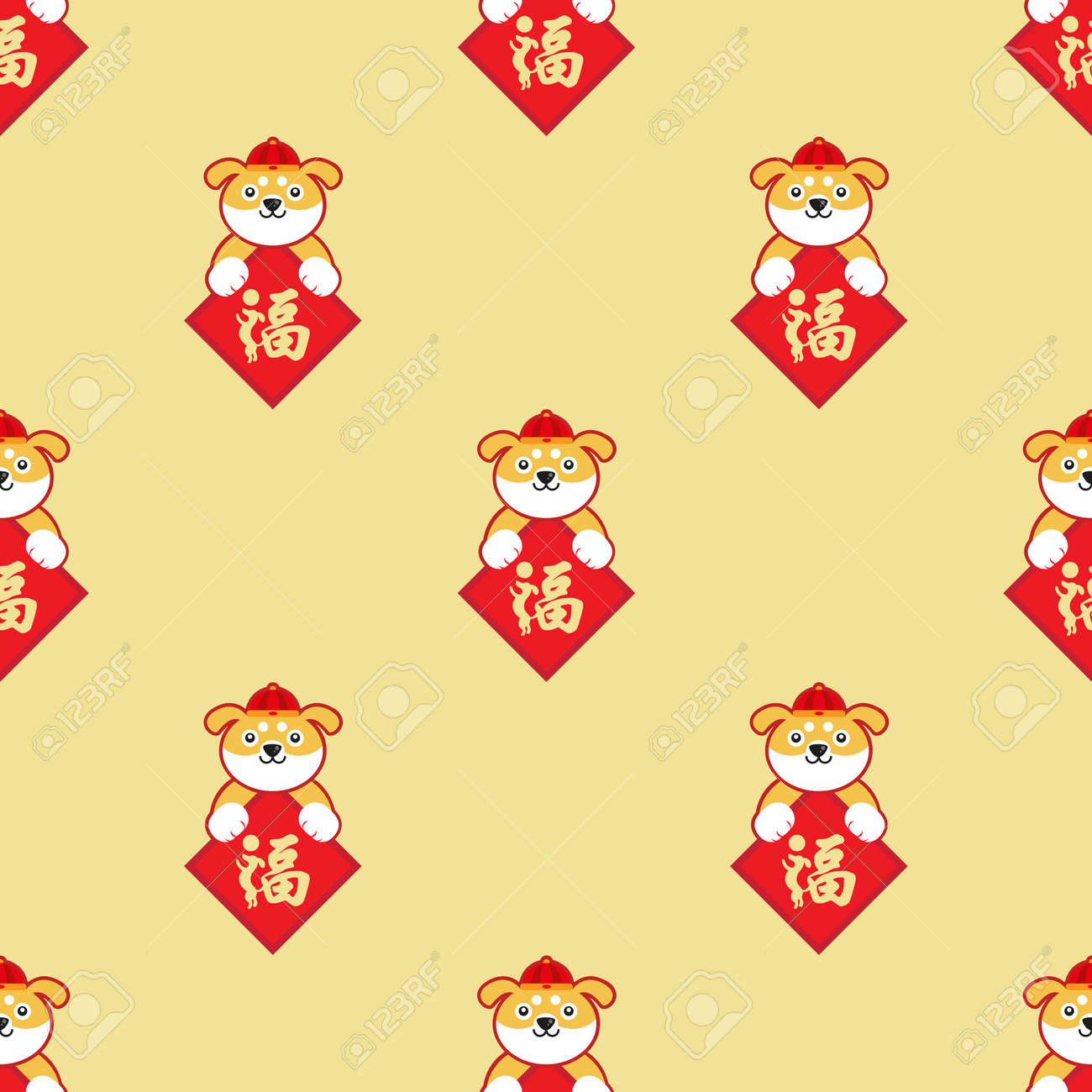 Chinese New Year Wallpaper. Celebrate Year Of The Dog. Royalty