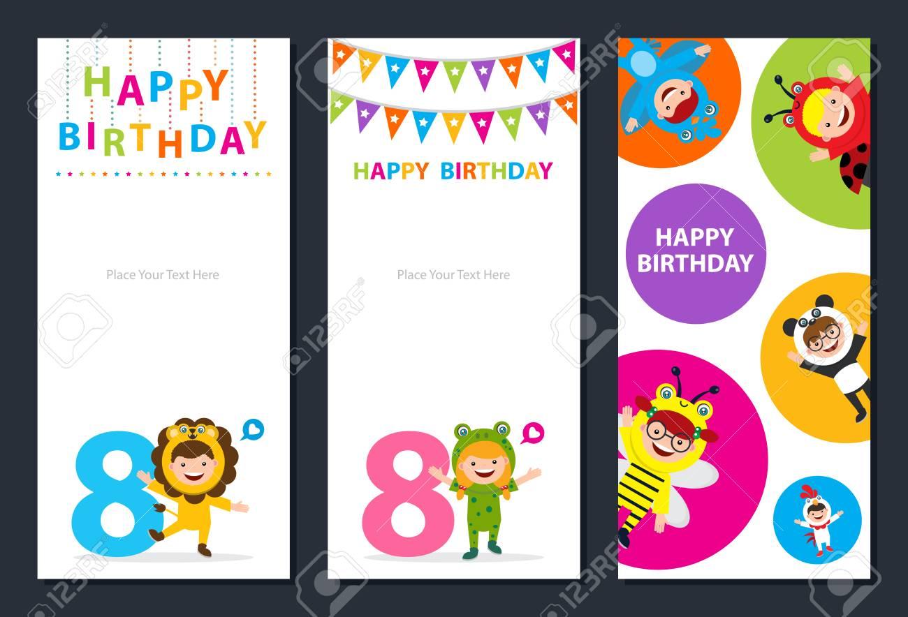happy birthday card template stock vector 96755771