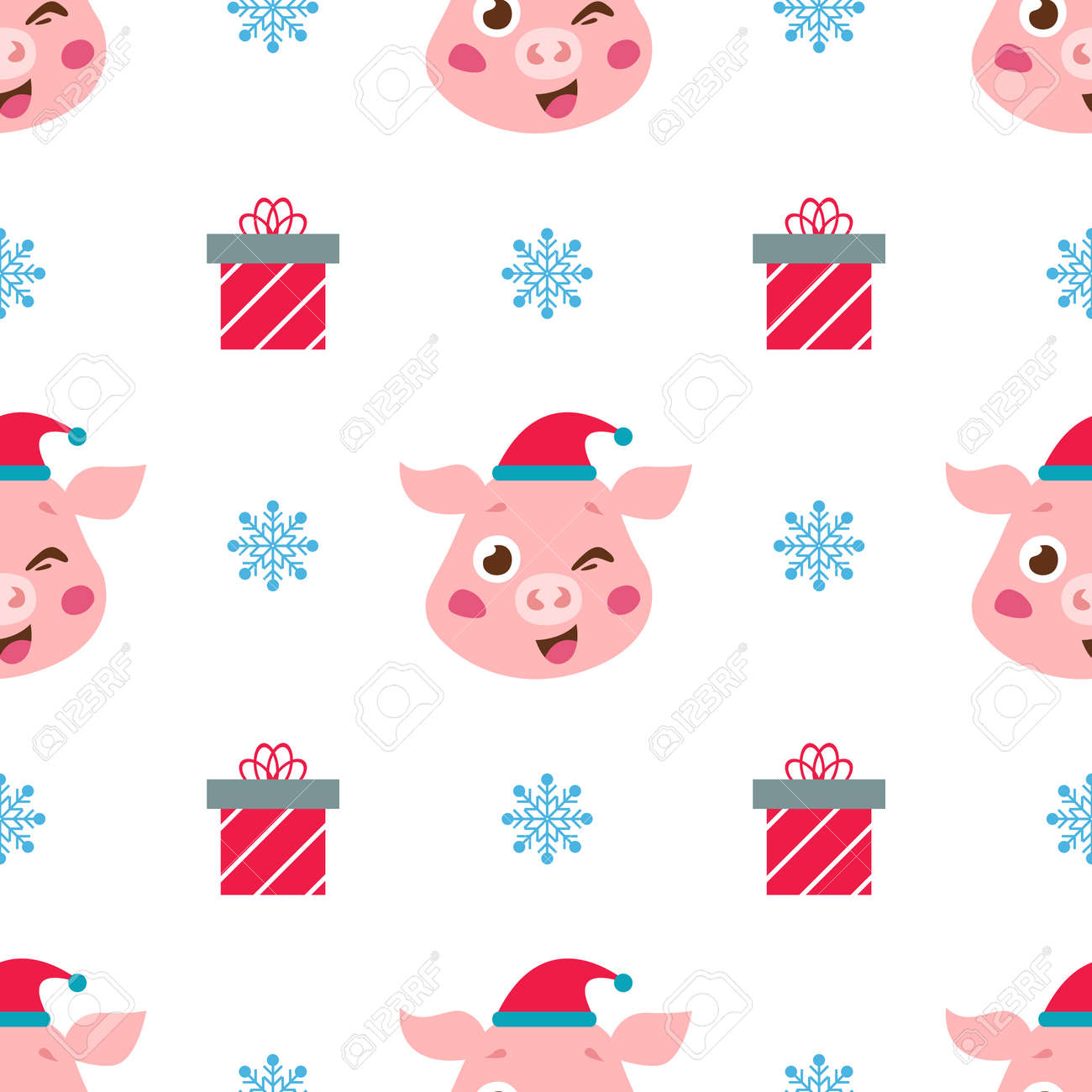 107668092 christmas wallpaper with cute pig