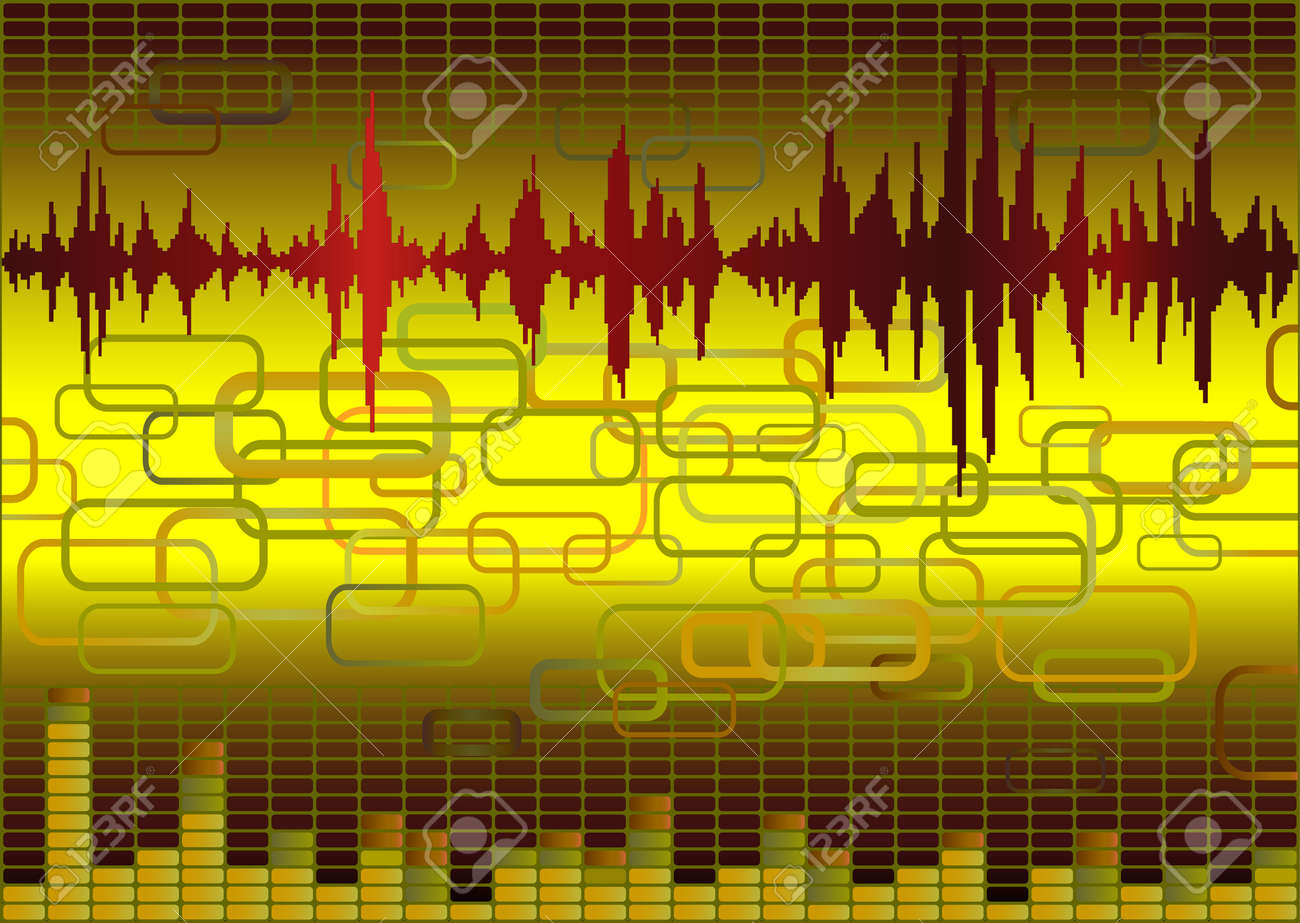 Abstract music background with retro elements Stock Vector - 4264339
