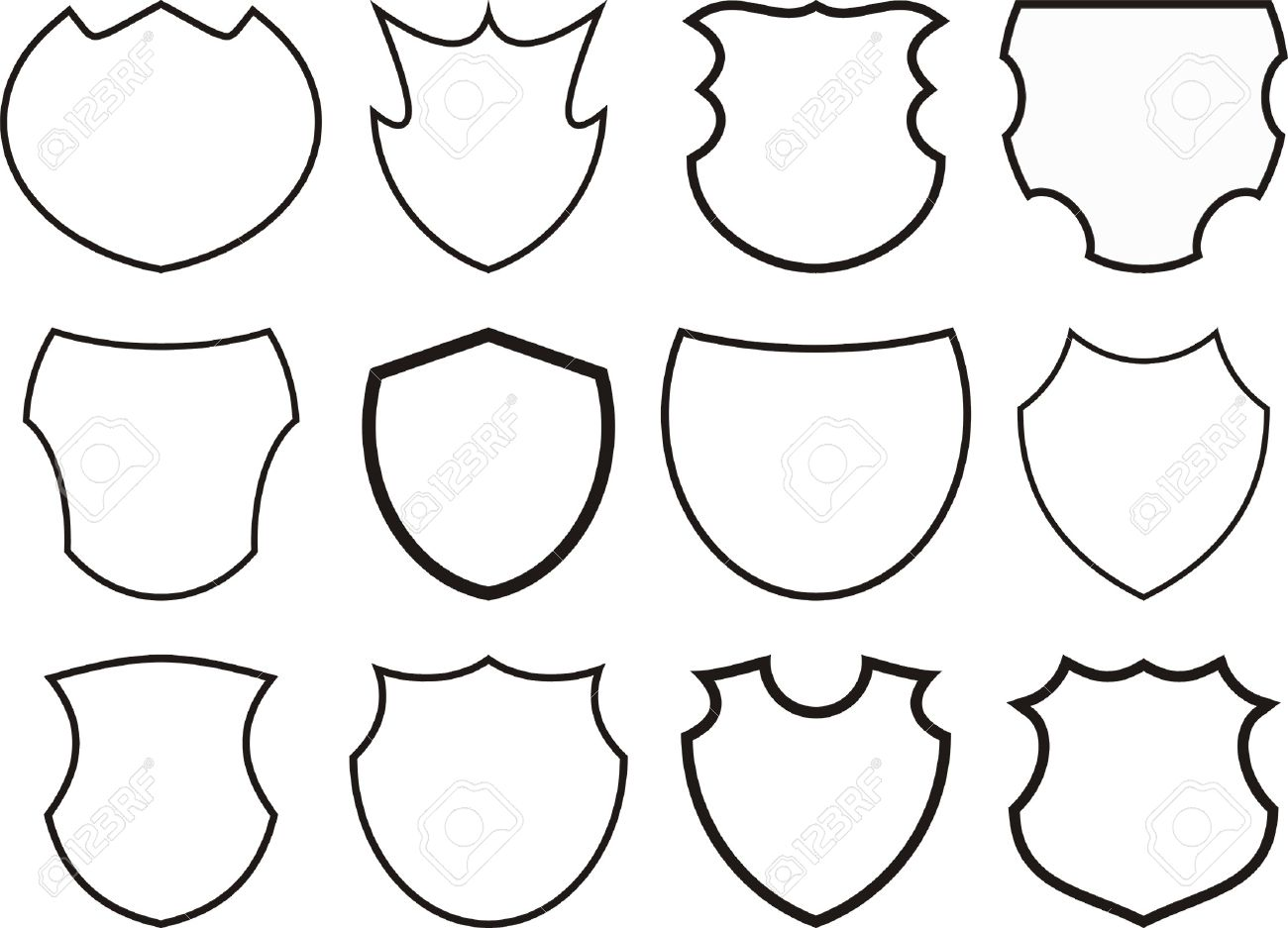 12 shields and crests royalty free cliparts vectors and stock rh 123rf com crest vector art crest vector png