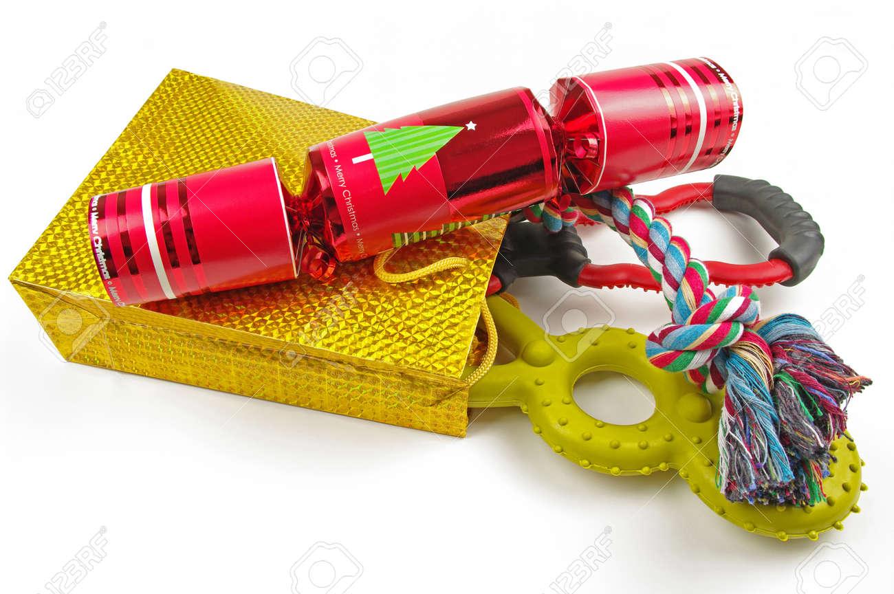 Christmas Cracker Toys.Dog Toys And Christmas Cracker