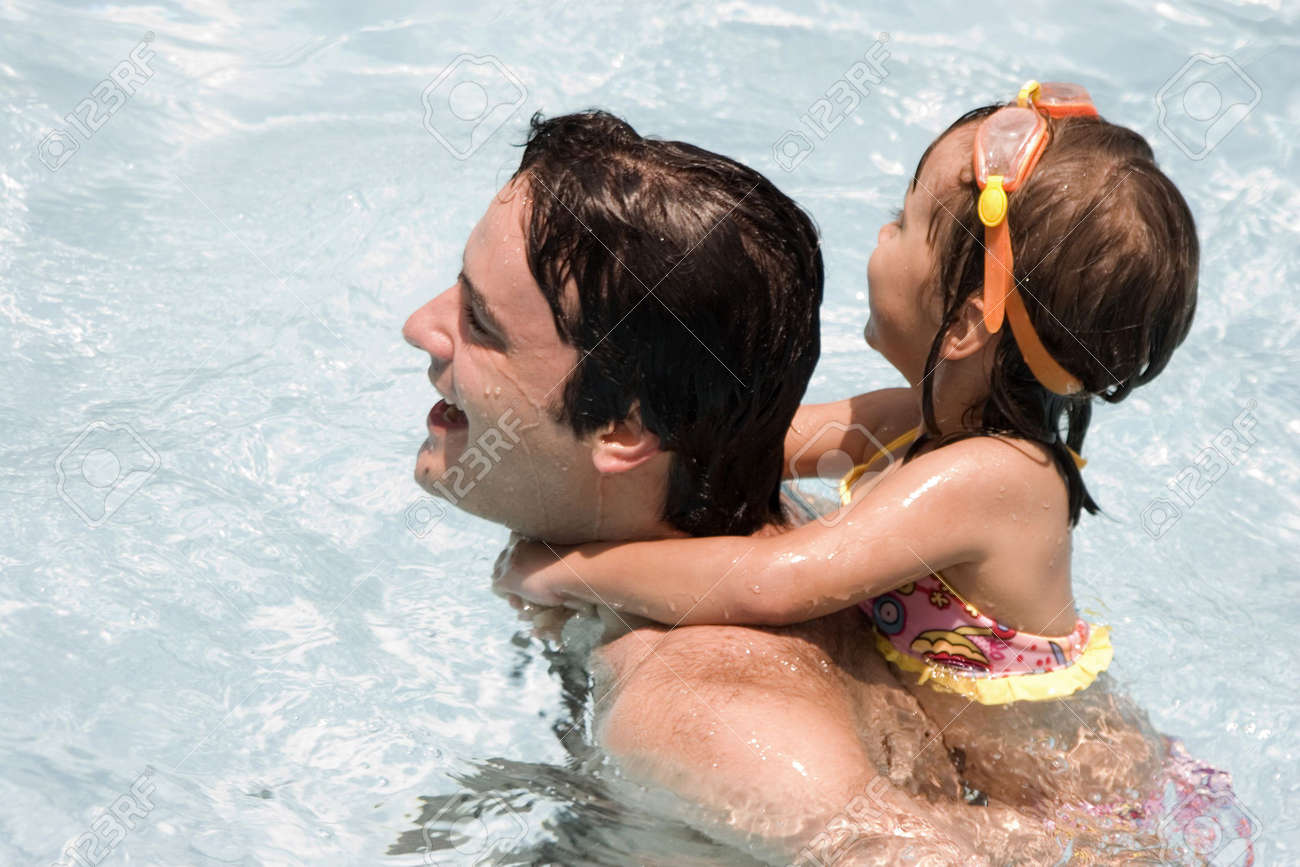 Father and daughter in Swimming pool Stock Photo - 5307819