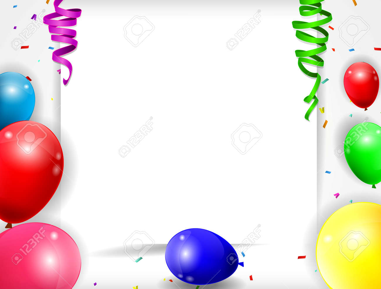 birthday background with colorful balloons of illustration - 41617917