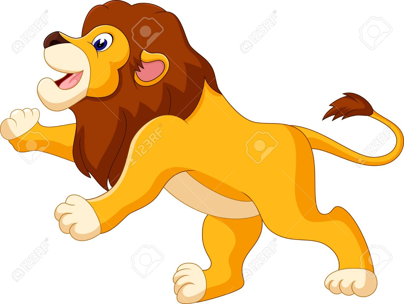 イラストのかわいいライオン漫画 の写真素材画像素材 Image 49057309