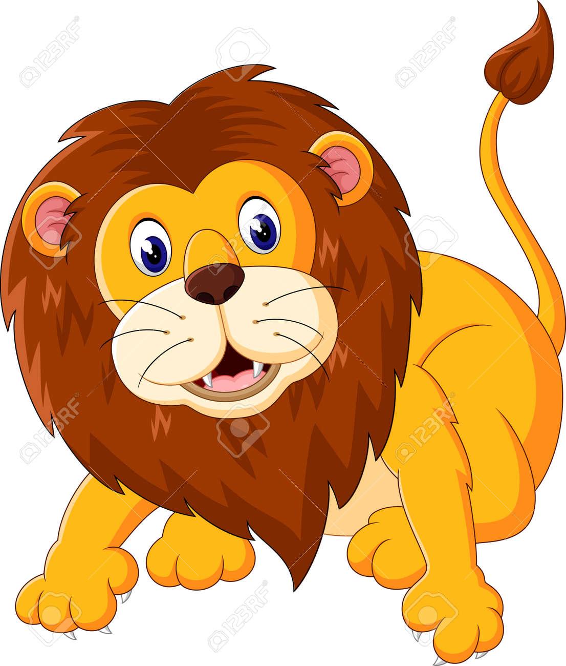 イラストのかわいいライオン漫画 の写真素材画像素材 Image 50993302