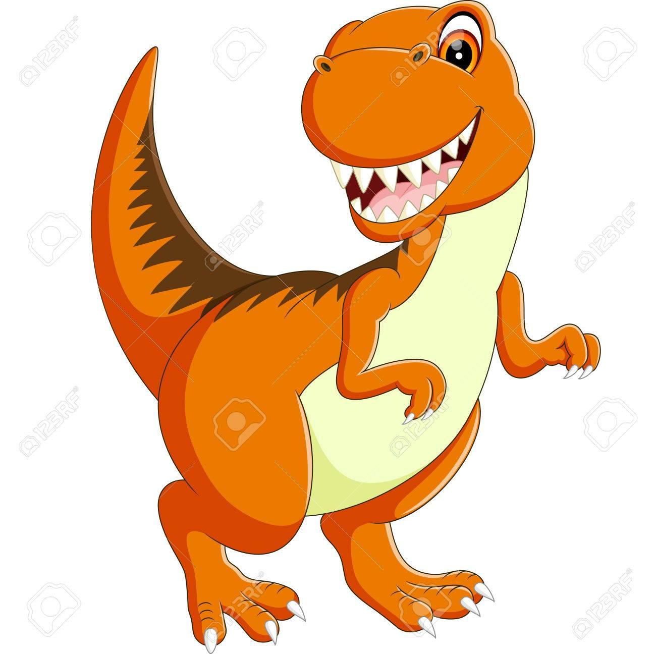 illustration of Cute dinosaur cartoon - 55160913