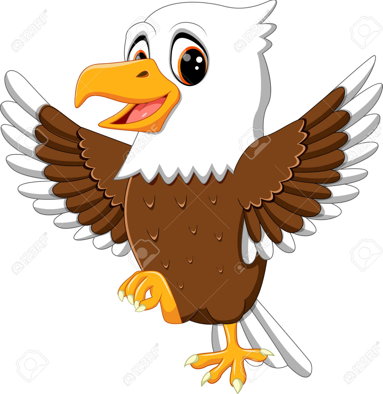 cute eagle cartoon stock photo picture and royalty free image rh 123rf com american eagle cartoon images american eagle cartoon images