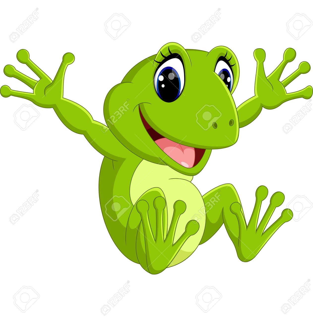 Cute frog cartoon - 58514017