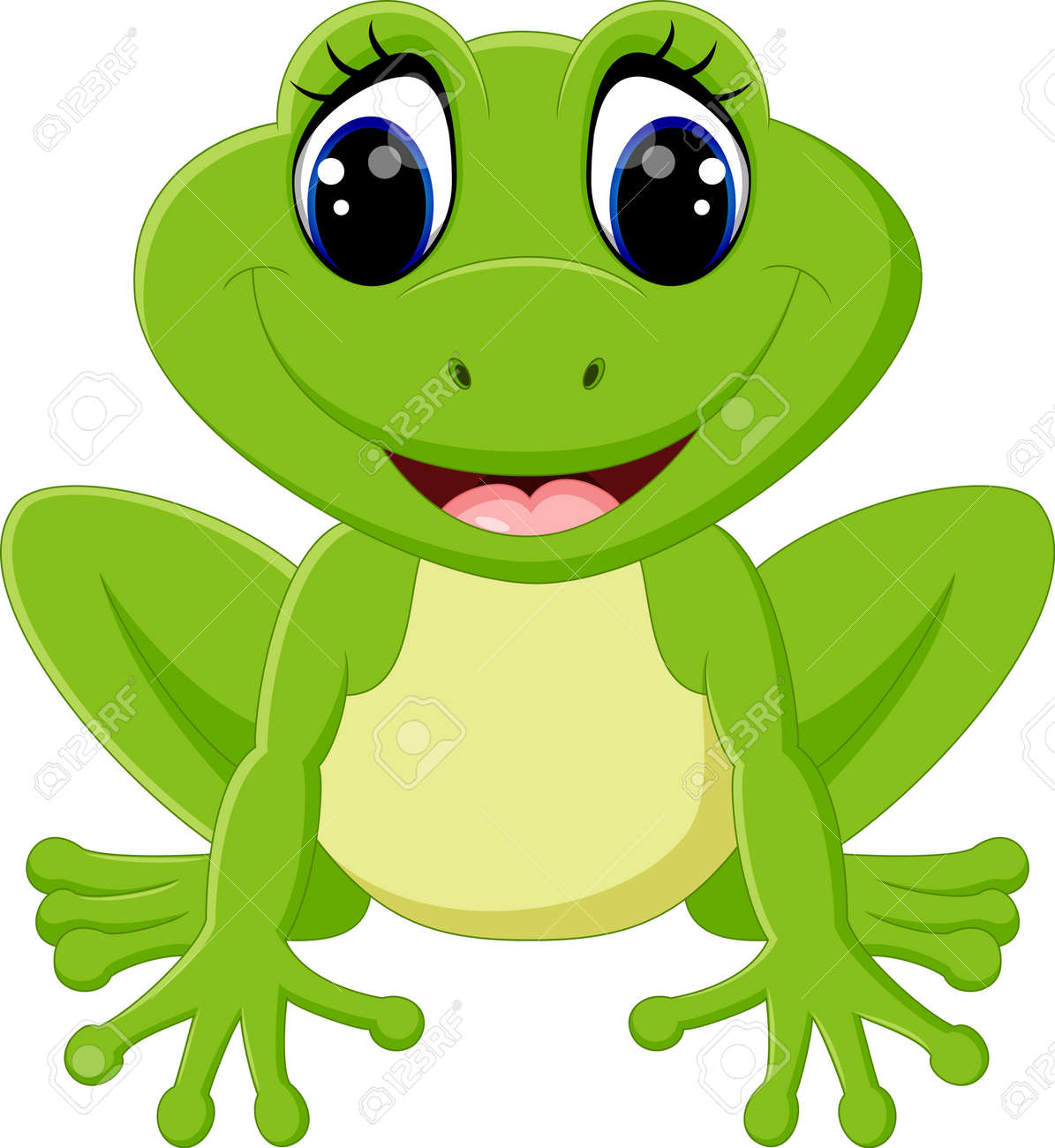 cute frog cartoon royalty free cliparts vectors and stock rh 123rf com cute frog clip art free with beer cute frog clip art free