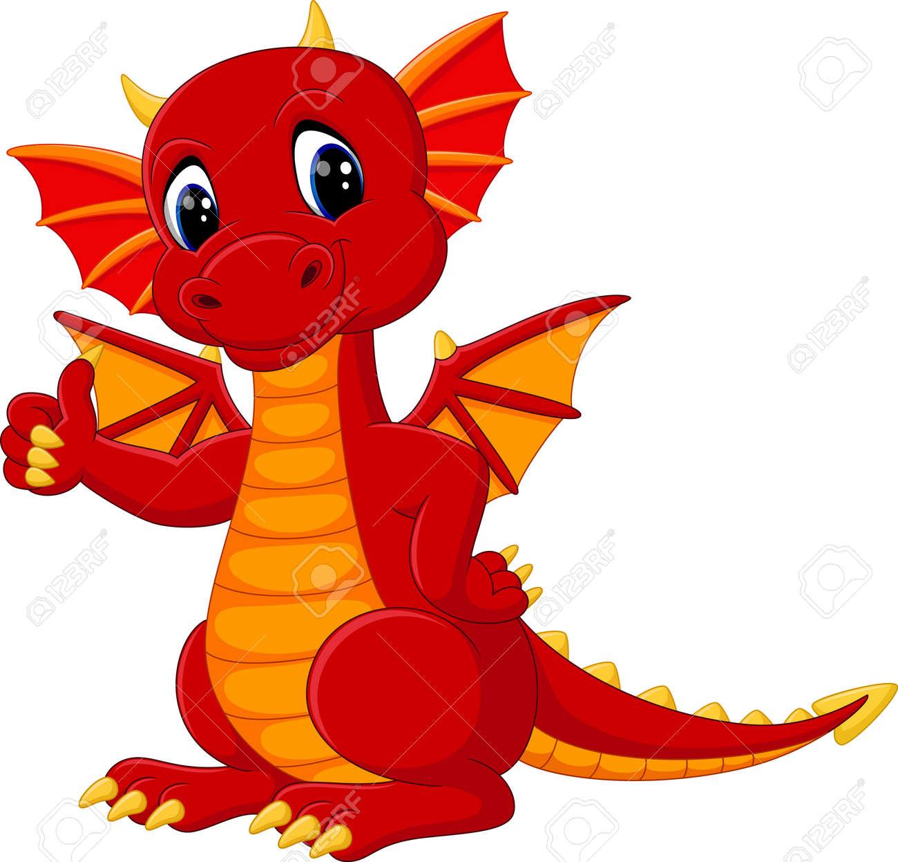 cute dragon cartoon - 58514378