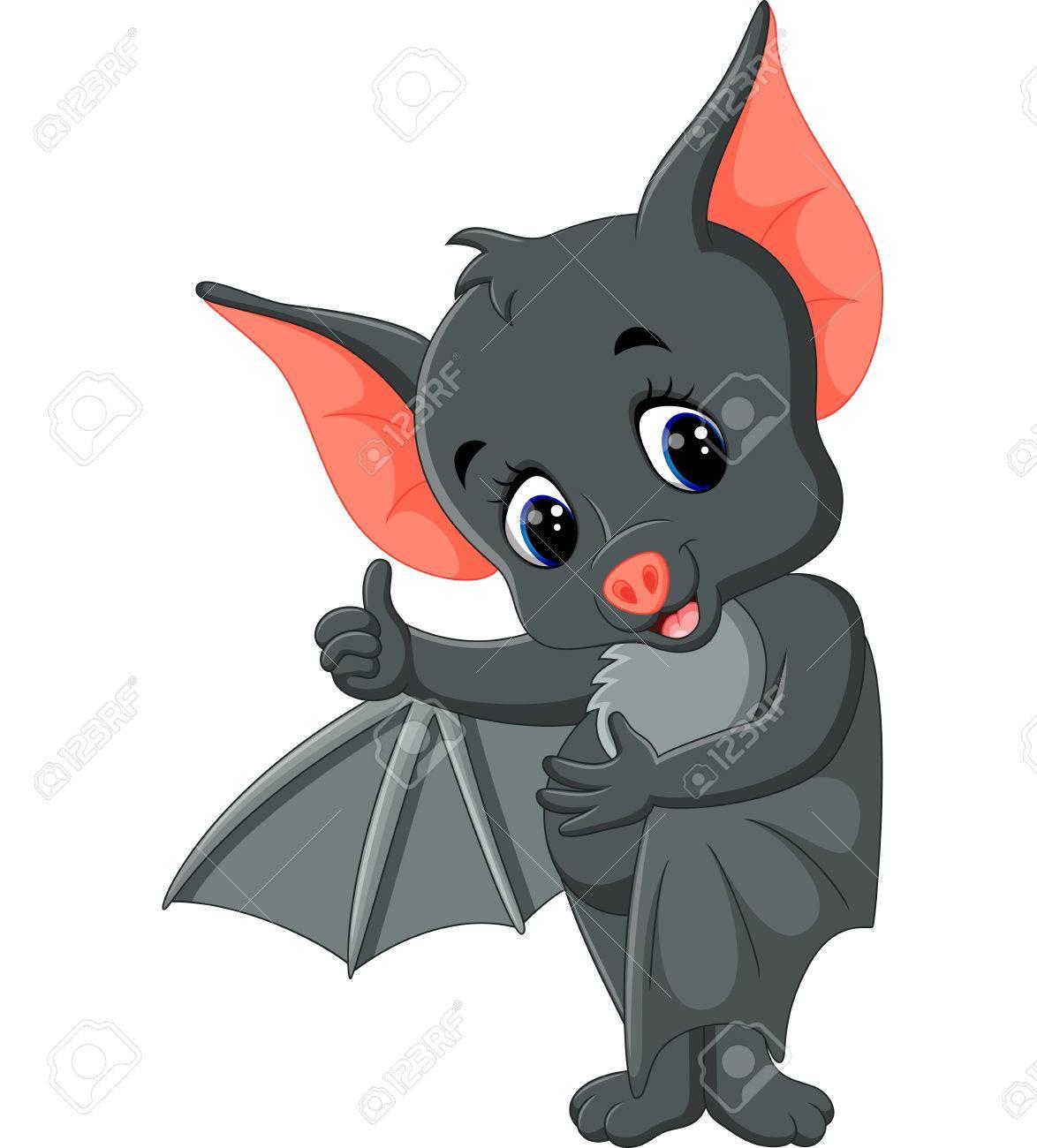 Felice cartone animato pipistrello volante scaricare vettori premium