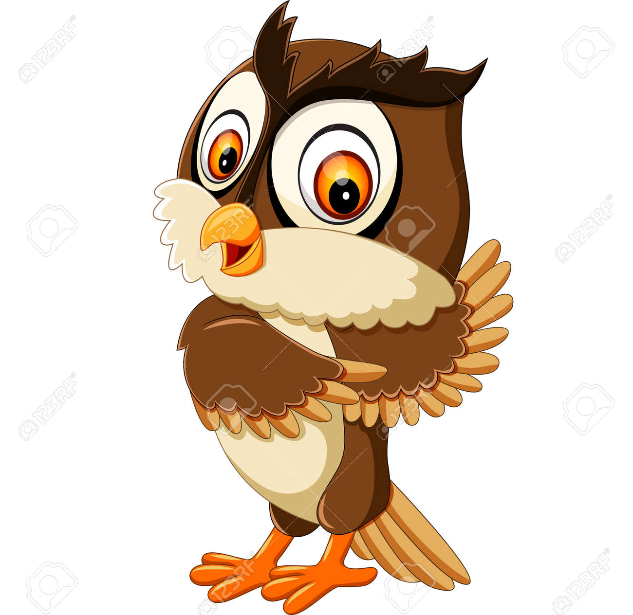 Cute owl cartoon posing cute owl cartoon posing 60190566 voltagebd Image collections